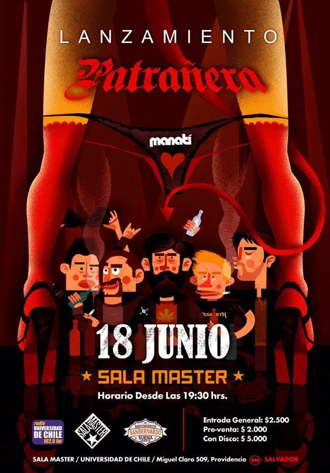 """18 Junio – Lanzamiento de nuestro disco """"Patrañera"""" en Sala Master"""
