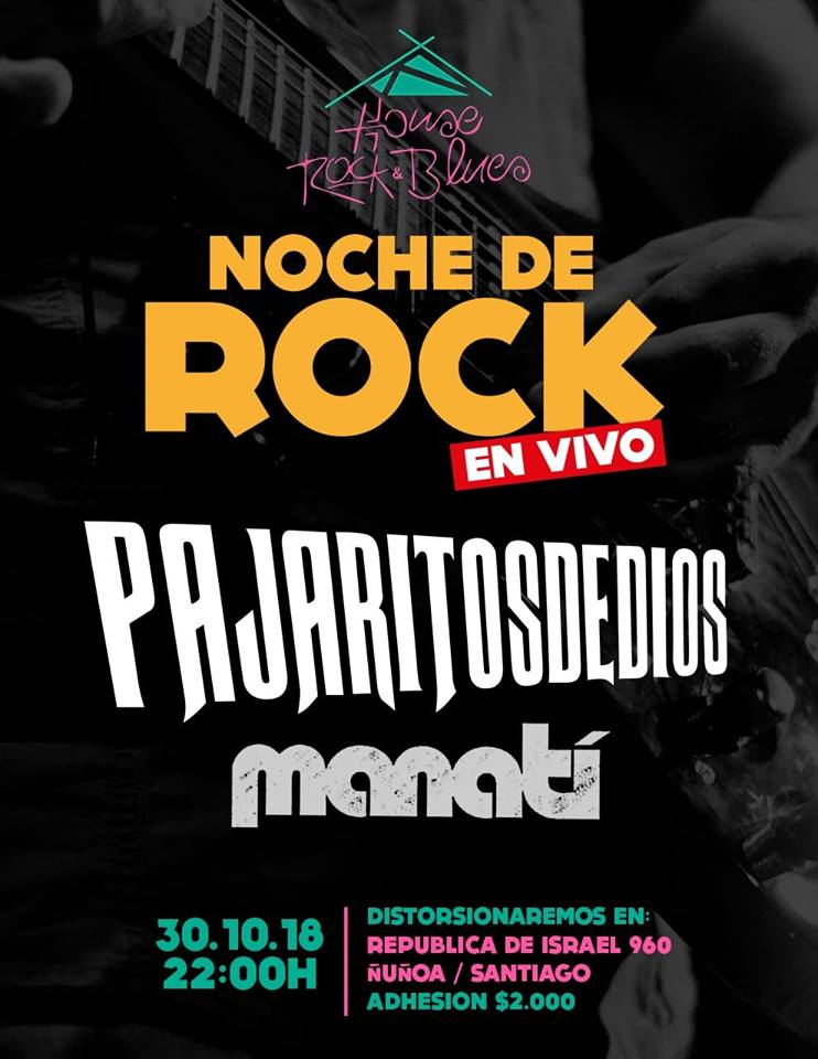 Manatí en House of Rock & Blues – 30 Octubre