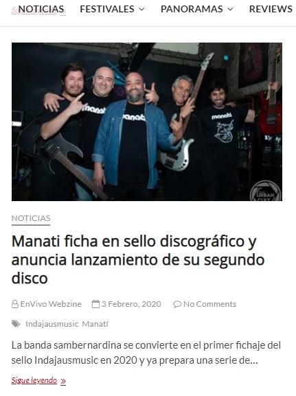 Manatí ficha en sello discográfico y anuncia lanzamiento de su segundo disco